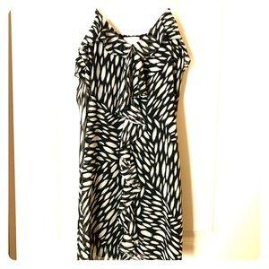 Black and White Sundress Women's Size L